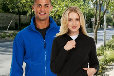 Photo of fleeces suitable for embroidery